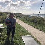 Den aktive mødregruppe mor i form efter fødslen træning